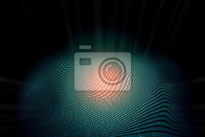 Abstrakcyjny tekst kodu binarnego zero-jedynkowego w formacie fali z energią mocy w czerwonym blasku pośrodku, który można wykorzystać jako tło dla podkreślenia technologii, produktu, komunikacji siec