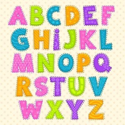 Plakat Alfabet Cute Zabawna dziecinny