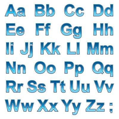 Plakat Alfabet pseudo 3d litery