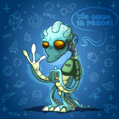 Plakat Alien space invader welcomes you