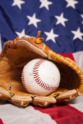 Plakat Amerykański Baseball