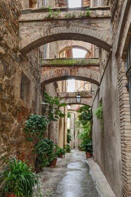 Plakat antyk włoski alley