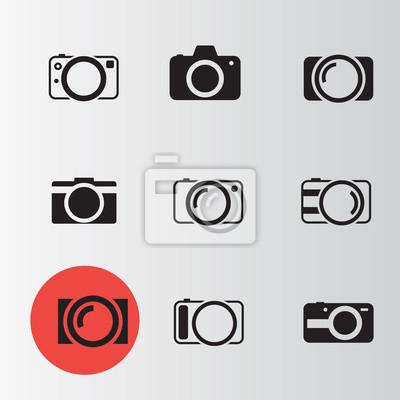 Aparat zestaw 4 ikony