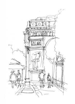 Plakat Arc de Triomphe sketch