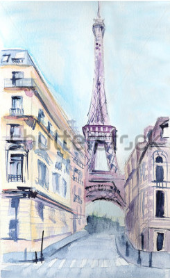 Plakat Architektura paryska. Wieża Eiffla