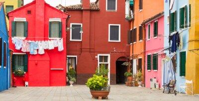 Plakat Architektury śródziemnomorskiej w Burano, Włochy