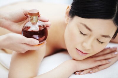 Plakat Aromatyczny olej do masażu