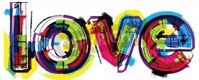 Plakat Artystyczny słowo miłość