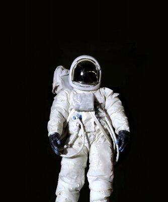 Plakat Astronauta na czarnym tle