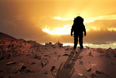 Plakat Astronauta na Marsa