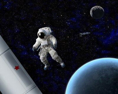 Plakat Astronauta w kosmosie