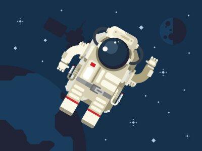 Plakat Astronauta w przestrzeni kosmicznej