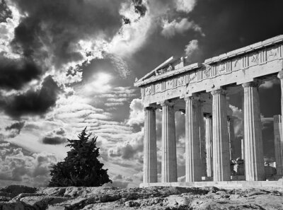 Plakat Ateny - Akropol i piękne Chmura