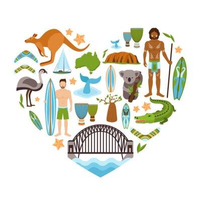 Plakat Australia kształt serca