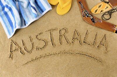 Plakat Australia tle plaży