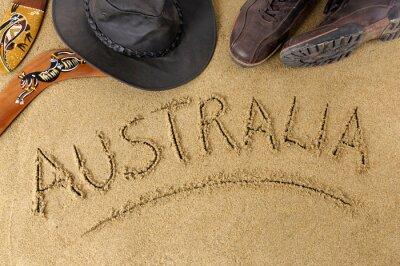 Plakat Australia w tle