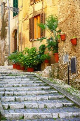 Plakat autentyczne średniowieczne wioski Włoch - Casperia