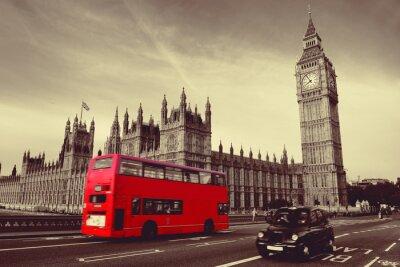 Plakat Autobusy w Londynie
