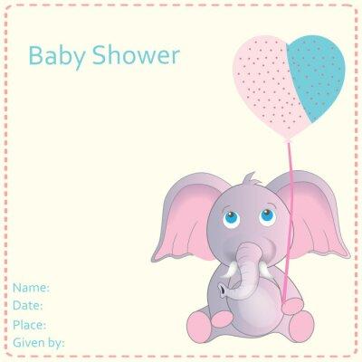 Plakat Baby Shower zaproszenie