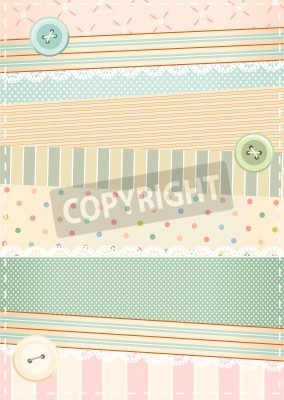 Plakat background in shabby chic style
