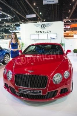 Plakat BANGKOK - NOVEMBER 28 : Bentley Continental GT Speed on display at The 30th Thailand International Motor Expo 2013 in Bangkok, Thailand.