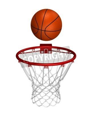 Plakat Basket ball over the ring