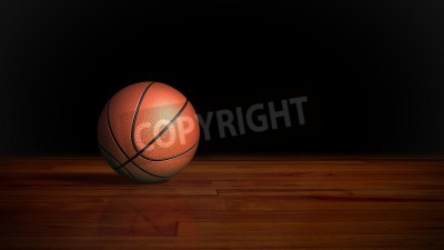Plakat basketball on the wood floor graphic background