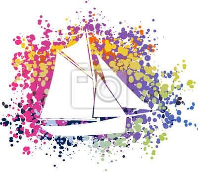 Plakat Bateau voilier coloré