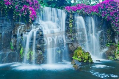 Plakat Beautiful Blue Waterfall in Hawaii