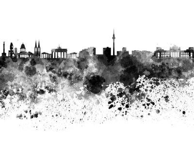 Plakat Berlin skyline czarno akwarelą