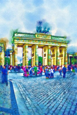Plakat Berlin sztuki ilustracji