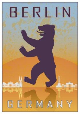 Plakat Berlin vintage plakat