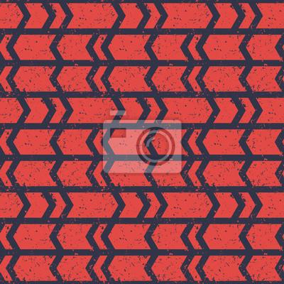 Bez szwu deseń, ciemnoniebieski streszczenie strzałki na czerwonym tle