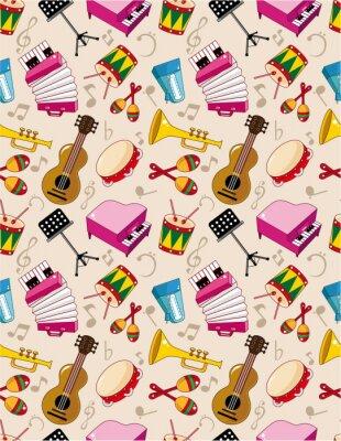 Plakat bezszwowe wzór muzyka