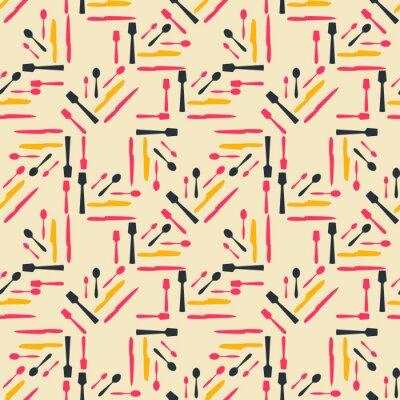 Bezszwowy kolorowy wzór. Tło z płaskiej łyżki stylu