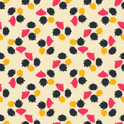Bezszwowy kolorowy wzór. Tło z puli w stylu płaski