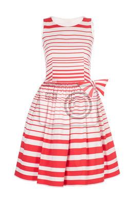 Plakat Biały z czerwonym sukienka w stylu retro na białym tle