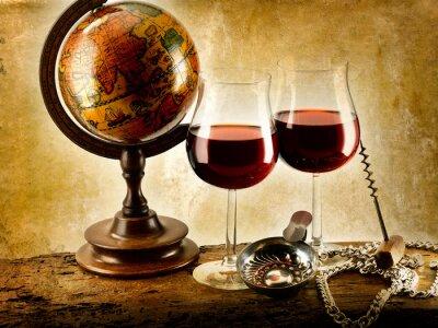 Plakat bicchieri di vino rosso