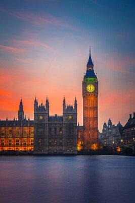 Plakat Big Ben i Houses of Parliament, Londyn