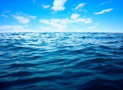 Plakat Błękitne morze powierzchni wody