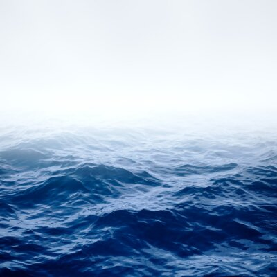 Plakat Błękitny ocean i niebo jasne