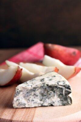 Plakat blue cheese i gruszek
