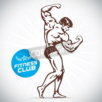 Plakat Bodybuilder Fitness Model Illustration