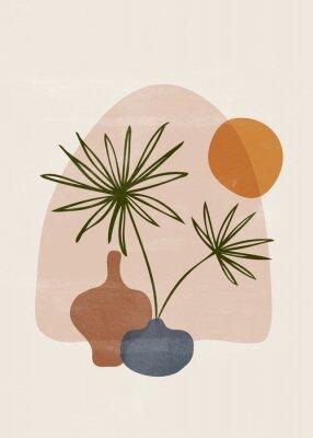 Plakat Botanical vintage print boho sun minimalist wall art