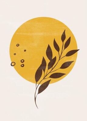 Plakat Botanical vintage print boho sun moon minimalist wall art abstract home decor