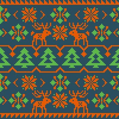Plakat Boże Narodzenie i Zima dzianiny szwu wzór