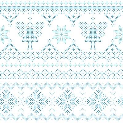 Plakat Boże Narodzenie Scandinavian Card - za zaproszenie, tapety