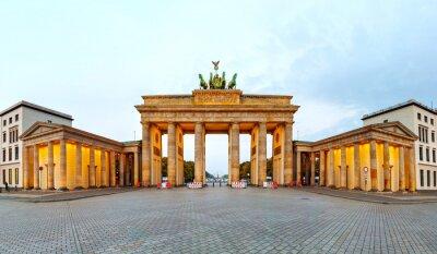 Plakat Brama Brandenburska panorama w Berlinie, Niemcy