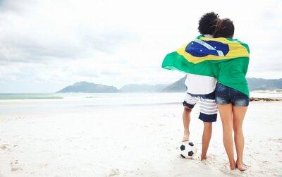 Plakat Brasil kibice