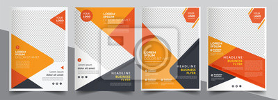 Plakat Brochure design, cover modern layout, annual report, poster, flyer in A4 with colorful triangles